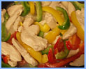 Stir fry chicken and peppers